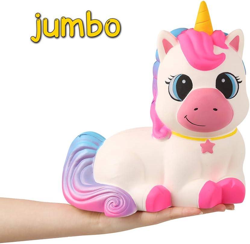 Anboor 9,1 Pulgadas Squishie Gigante Unicornio Caballo de Jumbo Kawaii Suave Lento Aumento perfumadas Squishie Animales del Alivio de tensión de Niños Juguetes Accesorios Decorativos