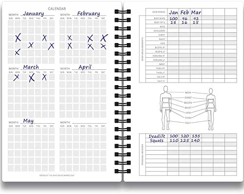 Cossac Fitness Journal & Workout Planner - Designed by Experts Gym Notebook, Workout Tracker,Exercise Log Book for Men Women 7