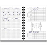 Cossac Fitness Log Book & Workout Planner