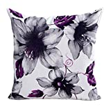 Hot Sale! Decorative Pillow Case Howstar Flowers Pillow Cover Printing Cushion Cover For Chair Home Decor 18 x 18 Inch (Purple)