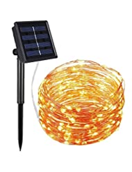 AMIR Solar Powered String Lights, 100 LED Copper Wire Lights,...