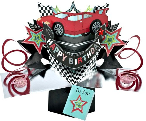 THE ORIGINAL POP UPS - 006 - CAR - BIRTHDAY CARD Car Cards