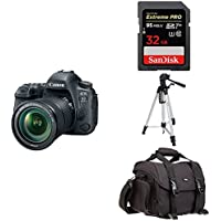 Canon EOS 6D Mark II Digital SLR Camera with EF 24-105mm IS STM Lens + Accessory Bundle