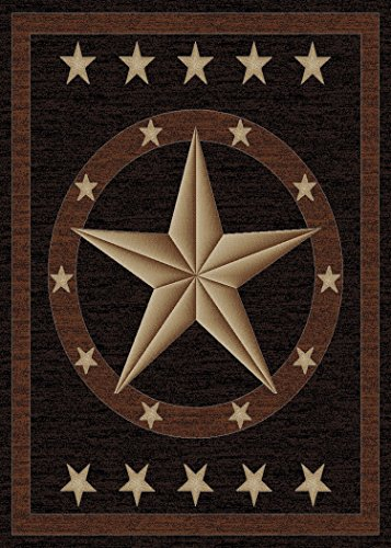 Rustic Lodge, Texas Star Area Rug, 5'3