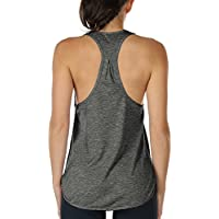 icyzone Workout Tank Tops Women - Athletic Yoga Tops, Racerback Running Tank Top