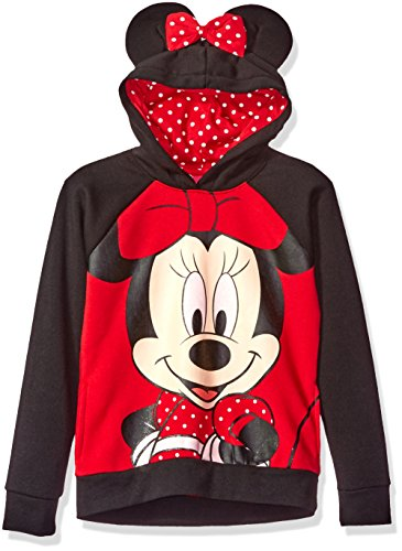 Disney Big Girls' Minnie Mouse Costume Hoodie, Red, XL14/16 (Mouse Costume Women)