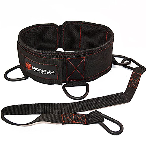 Advanced Dip Belt - Dip Pullup Squat Multifunction Versatile Weight Belt for Lifting (Bull Sled)