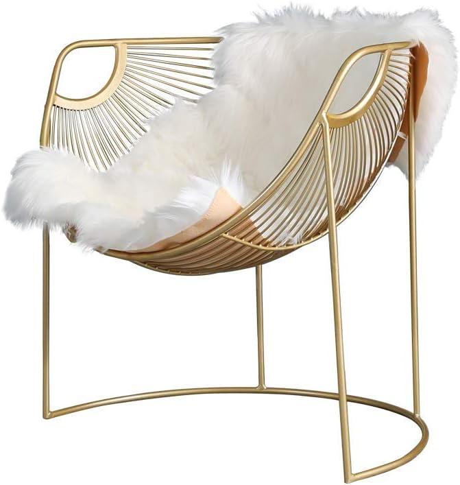 Veilig Betalen GWFVA smeedijzeren salontafel voor de woonkamer, Nordic sofa bijzettafel, marmer tafelblad, cocktailtafel 50 × 52 cm). Chair j5Uavgd