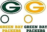 Green Bay Packers Cornhole Decal Set - 6 Cornhole Decals Free Circles