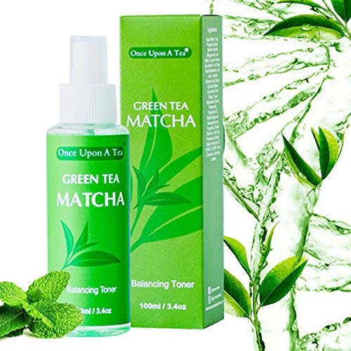 Green Tea Matcha Balancing Toner, Alcohol-Free Facial Mist, 90% Organic Face Spray, Best Pore Minimizer & Calming Skin Treatment For Sensitive, Dry & Combination Types, Prep for Serum & Moisturizer