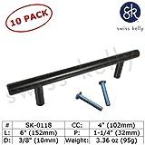 black 4 inch drawer pull - 10 Pack 6