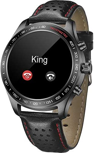 Smart Watch for Men Smartwatch with Heart Rate Monitor / Activity Tracker / Sleep Monitor / Bluetooth Music Control Weather Call/SMS Reminder IP68 Waterproof Fitness Sports Pedometer Watch for Android & iOS (BLACK) 51 RcO8aW8L