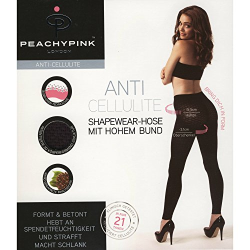 Peachy Rosa London Slim Ming Shapewear anti-cellulite Pantalones Leggings con cintura alta negro