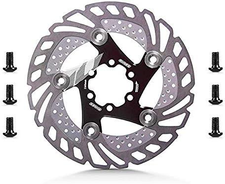 ロードバイクディスク 6ボルトアルミ合金自転車ディスクブレーキローターほとんどの自転車ロードバイクマウンテンバイクBMX MTB 160mm (色 : ブラック, サイズ : 160mm)