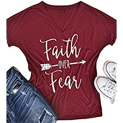 Womens T Shirt Casual Cotton Short Sleeve Letter Printed T-Shirt Tops By Gemijack