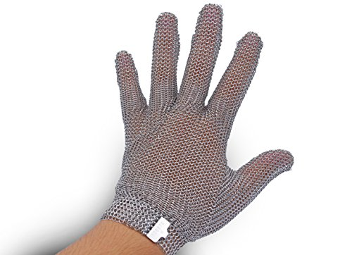 All Stainless Steel, No Fabric - Chainmail Mesh Butcher Glove - Sizes XXS to XL Available - ISO, FDA Compliant by 44Industry (Image #1)
