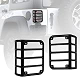Xprite Black Light Guard For Rear Taillights Cover 2007-2018 Jeep Wrangler JK Unlimited (One Pair)