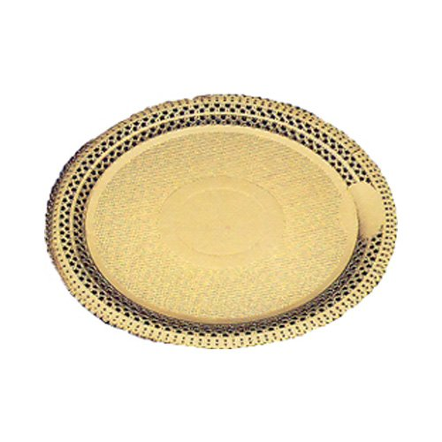 Round Gold Lace Cake Board 10-7/8'' Inner Diameter, 13'' Outer Diameter; Case of 100