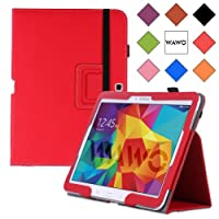 WAWO Samsung Galaxy Tab 4 10.1 Inch Tablet Smart Cover Creative Folio Case (Red)