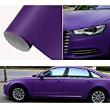 HOHO Matte Purple Wrap Vinyl Film Auto Vehicle Body Tint Film With Air Release Technology 60''x98ft Roll