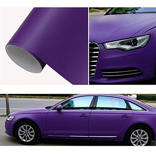 durable modeling Hoho Violet mat Voiture Corps Autocollant en vinyle Wrap Film autocollant 152,4x 30,5cm