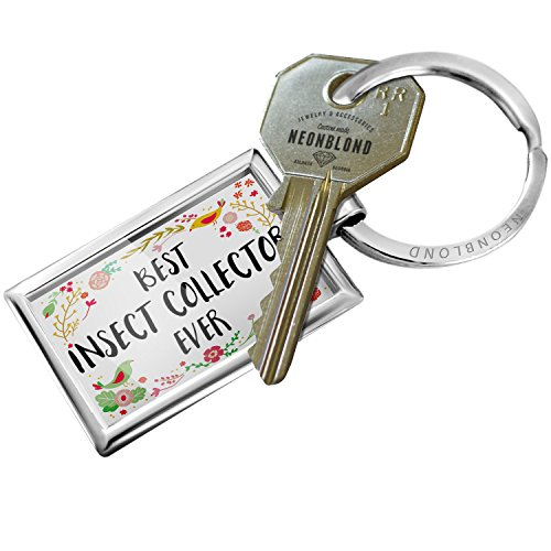 Keychain Happy Floral Border Insect Collector - NEONBLOND - Floral Collector