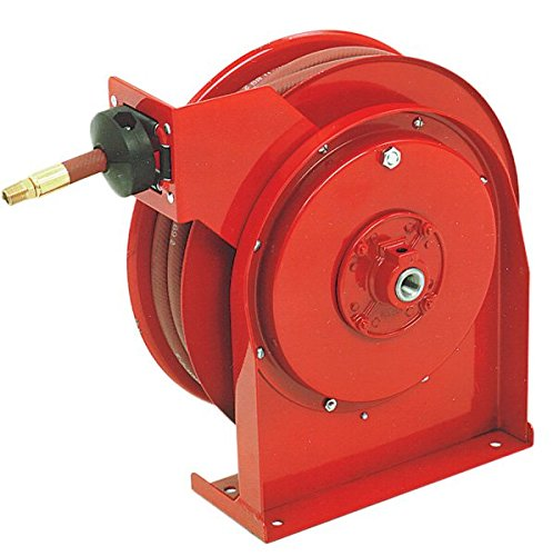 Reelcraft Spring - Pit Pal 5650OLP Reelcraft Spring Retractable Hose Reel and Hose .38 ID Hose 50 hose - 40lb Reel