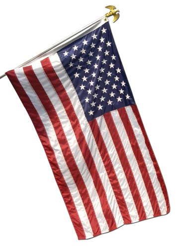 Valley Forge, American Flag, Spun Polyester 2-Ply, 3'x5', 10