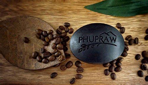 Phupraw Scrub Soap Scrub Spa Coffee Detox 110 g. Deep Clean Smooth Soft Skin New