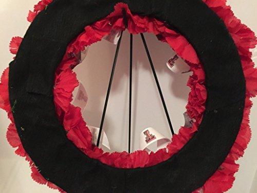 COLLEGE PRIDE - SPIRIT - TT - TEXAS TECH UNIVERSITY - RED RAIDERS - DORM DECOR - DORM ROOM - COLLECTOR WREATH by Peters Partners Design (Image #7)