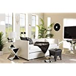 Baxton Studio Frank Faux Leather Twin Daybed in White