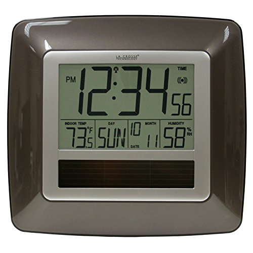 La Crosse Technology WT-8112U Solar Atomic Digital Clock wit