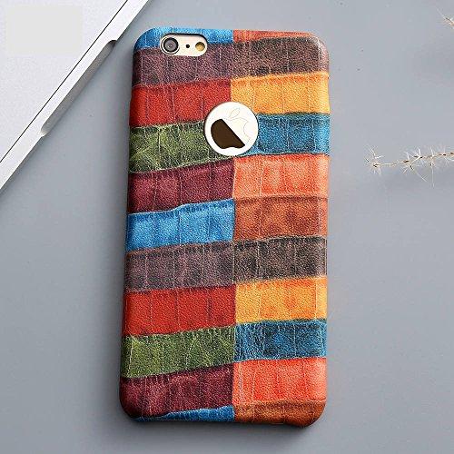 Cover iphone 8 plus progetto pelle di coccodrillo multicolore patrono colore unico custodia iphone 8 plus iphone 8 plus cover iphone 8 plus case iphone 8 plus hülle iphone 8 plus custodia phone case i