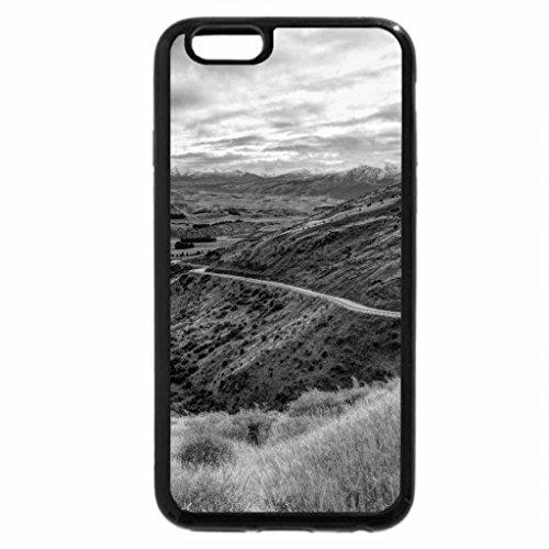iPhone 6S Plus Case, iPhone 6 Plus Case (Black & White) - beautiful valley road