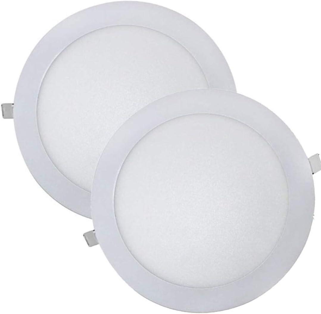 LED ATOMANT, S.L. Pack 2x Downlight LED Panel Extraplano Redondo, Iluminación 18W, 18 W, Blanco Frio 6500K, 225 mm