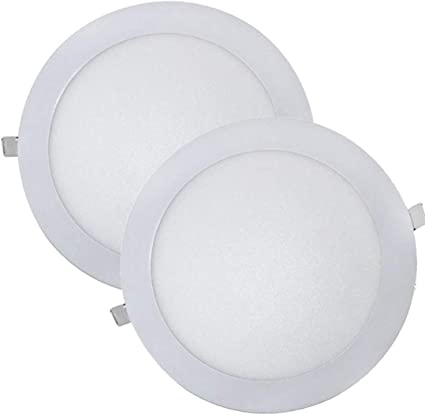 LED ATOMANT, S.L. Pack 2x Downlight LED Panel Extraplano Redondo, Iluminación 18W, 18 W, Blanco Frio 6500K, 225 mm: Amazon.es: Iluminación