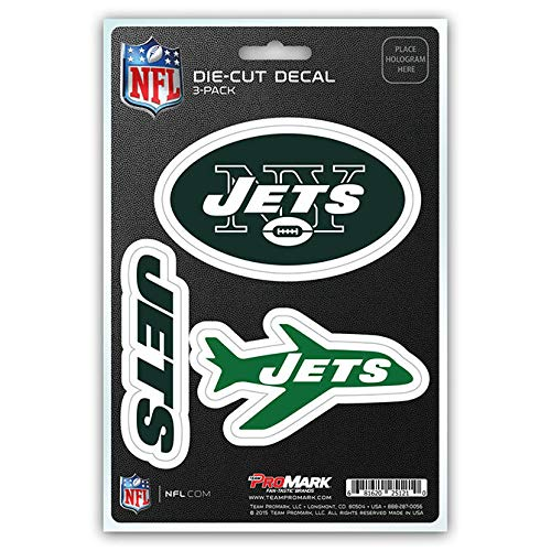 - NFL New York Jets Team Decal, 3-Pack