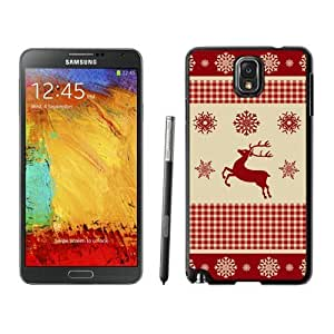 Custom-ized Phone CaseWinter Pattern With Deer Black Samsung Galaxy Note 3 Case 1