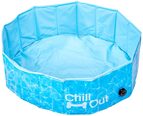 All For Paws 8000 Piscina Splash and Fun Chill Out para Cachorro, Azul, 80 x 80 x 25cm