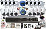 Evertech-32-Channel-HDMI-DVR-Full-D1-Security-Surveillance-1000-TVL-Dome-700-TVL-Bullet-Indoor-Outdoor-Cameras-ViewCam-App-2-TB-HDD-Metal-Power-Box-Warning-Sign