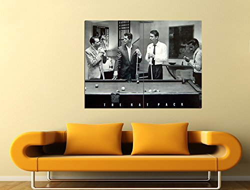 (The Rat Pack Pool Retro Vintage BW 47x35 Huge Giant Print Poster)
