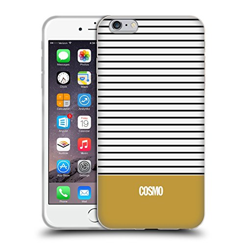 Official Cosmopolitan Gold 1 Stripes Collection Soft Gel Case for Apple iPhone 6 Plus / 6s Plus