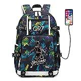 Soccer Player Star Cristiano Ronaldo Multifunction Backpack CR7 Travel Student Backpack Football Fans Bookbag For Men Women (Style 6)