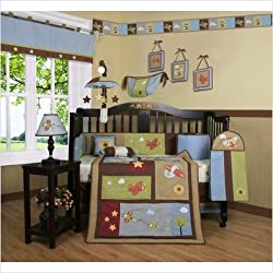 GEENY Boutique Airplane Aviator Boy's 13PCS CRIB BEDDING SET