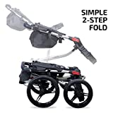Bag Boy Quad XL Push Cart, Matte Black/Red