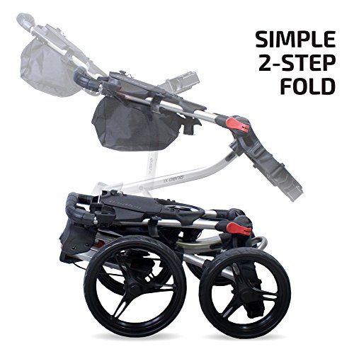 Bag Boy Quad XL Push Cart, Matte Black/Red