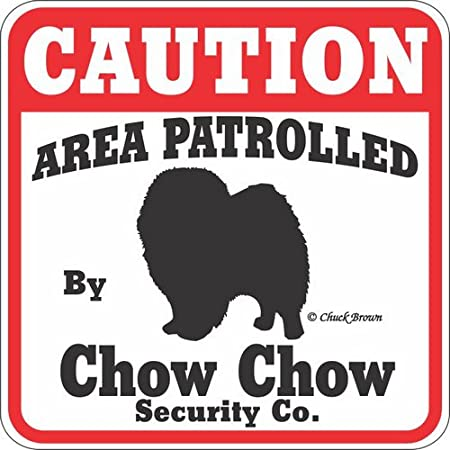 Dogs Gifts Plastic Street Signs: CHOW CIRCLE Decorations CHOW CHOW
