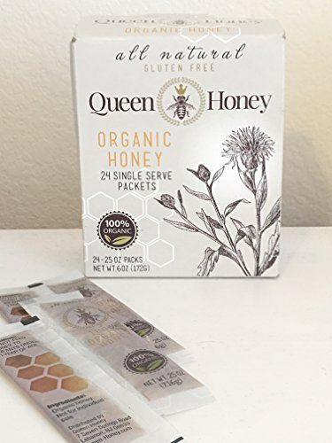 Queen Honey Organic Honey 24 Single Serve Packets ()