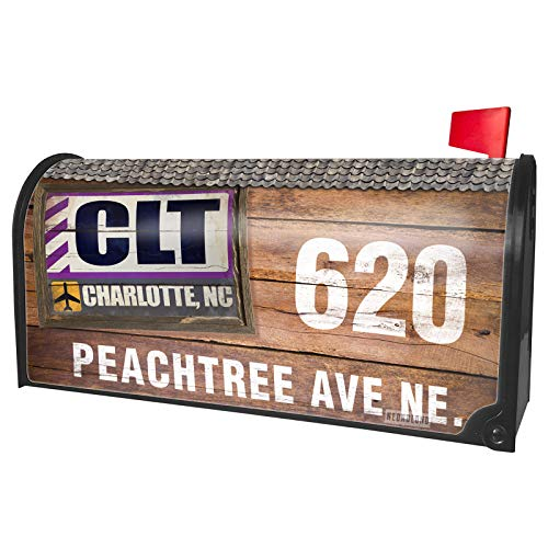 (NEONBLOND Custom Mailbox Cover Airportcode CLT Charlotte,)