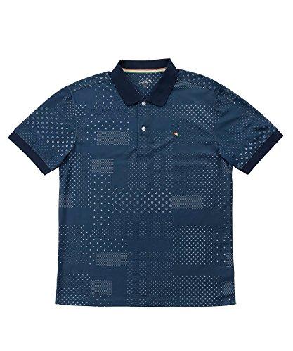 アーノルドパーマー メンズ ゴルフ ポロシャツ 半袖 総柄DOT半袖ポロシャツ AP220101H08 NV XO